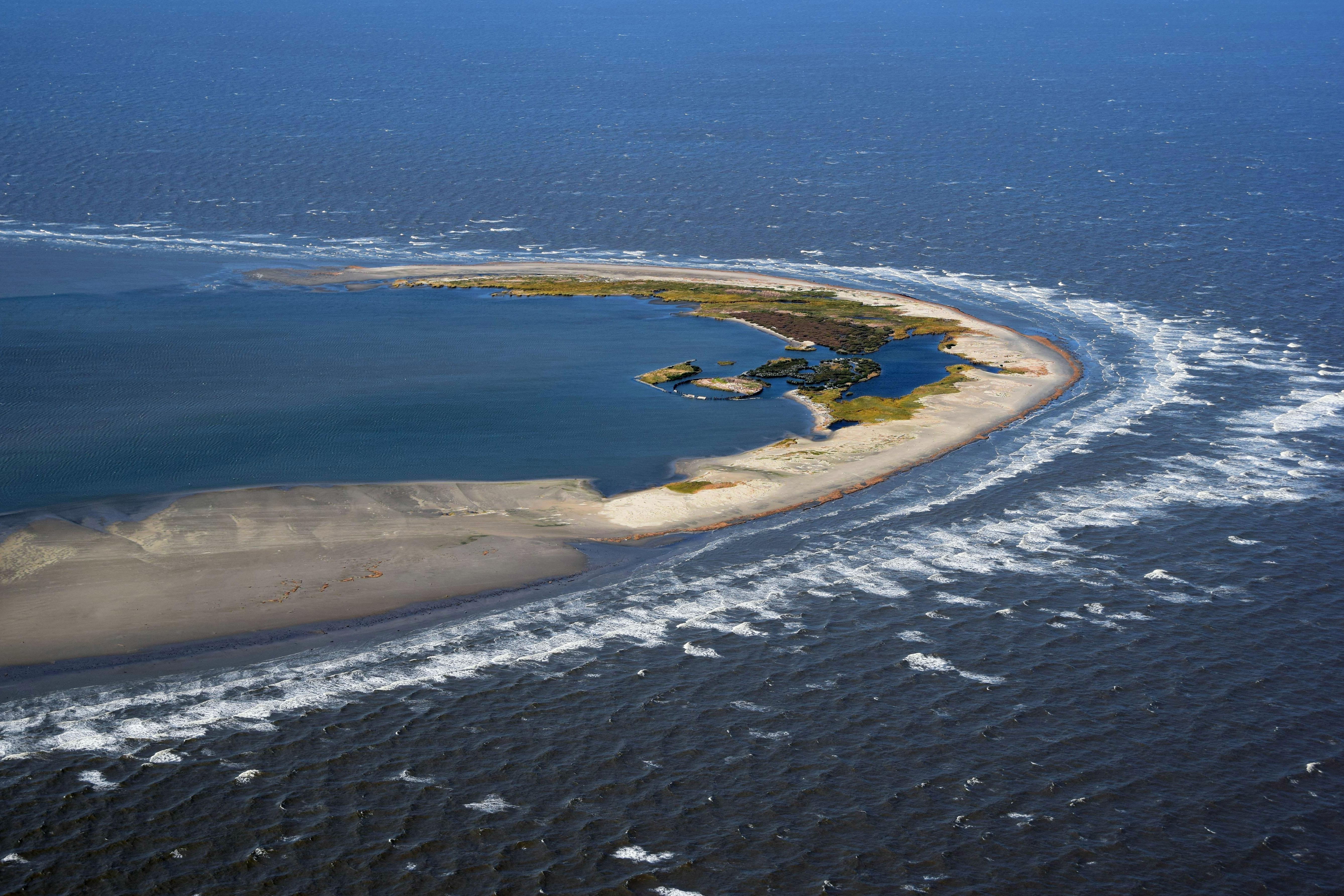 Aerial view of North Breton Island.