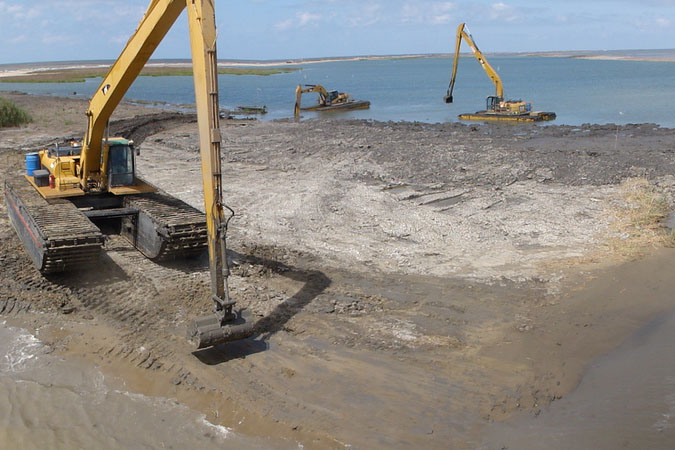 barrier island restoration in Louisiana