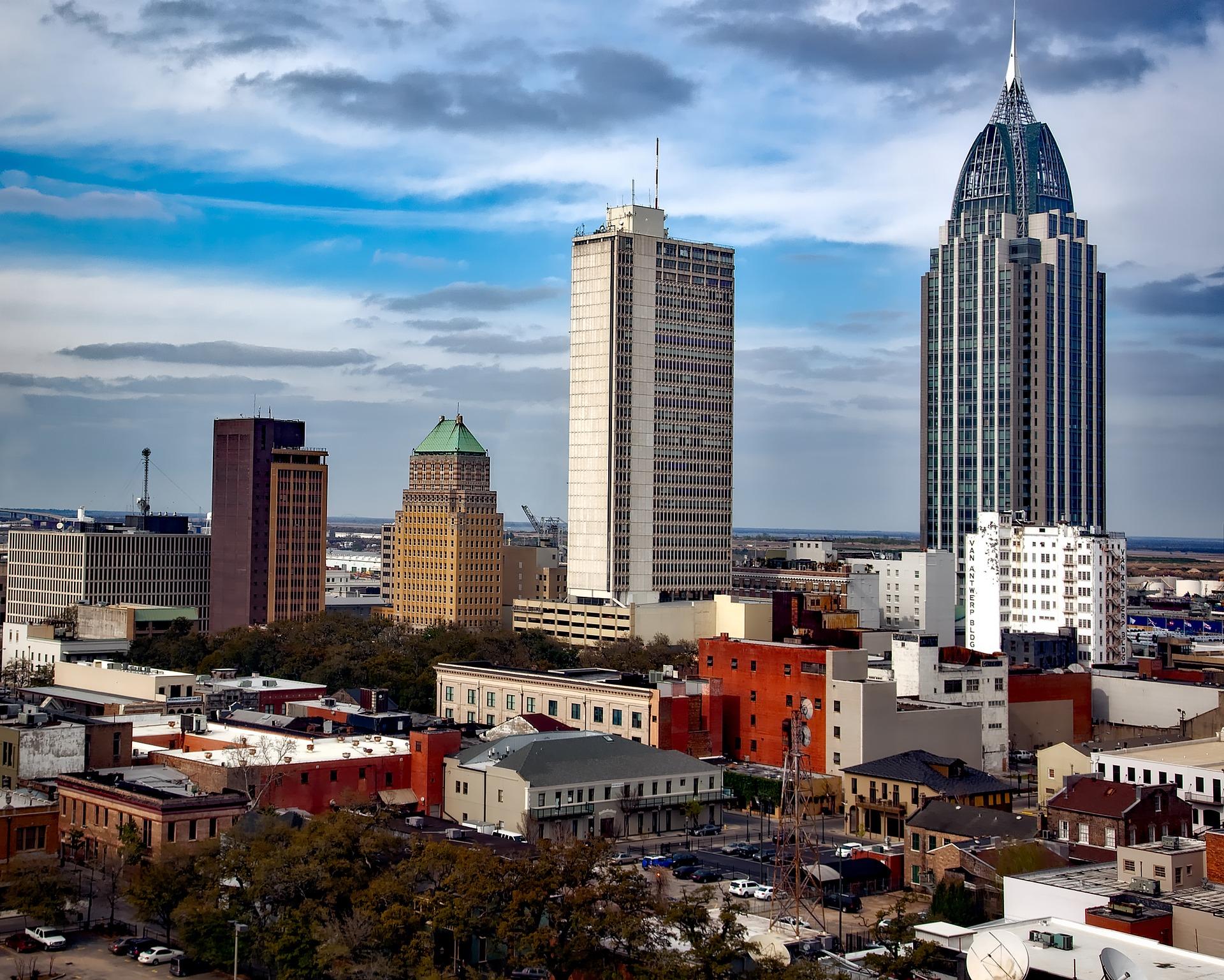 Mobile, Alabama skyline